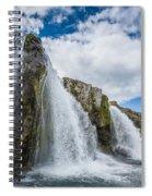 Kirkjufellsfoss Waterfalls, Church Spiral Notebook
