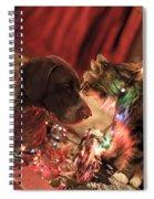 Kiss At Christmas Spiral Notebook