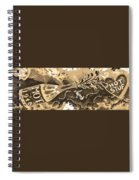 Kiss Me Hot Stuf In Sepia Spiral Notebook