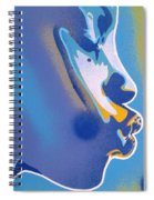 Kiss Series Blues And Yellows Spiral Notebook
