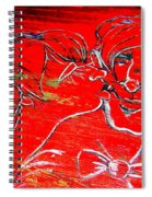 Kissing Couple Spiral Notebook