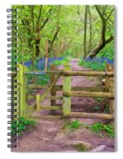 Kissing Gate Painting. Spiral Notebook
