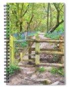 Kissing Gate Watercolour Spiral Notebook