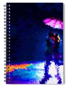 Kissing In The Rain Spiral Notebook