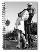 Kissing Sailor And Nurse Spiral Notebook