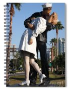 Kissing Sailor - The Kiss - Sarasota Spiral Notebook
