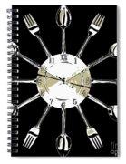 Kitchen Clock Spiral Notebook