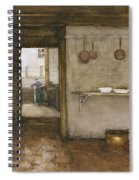 Kitchen Interior, C.1899 Spiral Notebook