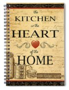 Kitchen Is The Heart Spiral Notebook