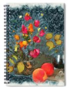 Kitchen - Peaches And Wine Painting  Spiral Notebook