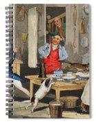 Kitchen Scene Spiral Notebook