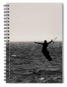 Kite Surfing Pose Spiral Notebook