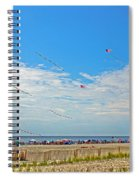 Kites Flying Over The Sand Spiral Notebook