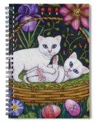 Kittens In A Basket Spiral Notebook