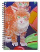 kittens With A Ball of Wool Spiral Notebook