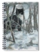 Kitty In The Cold Spiral Notebook