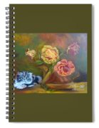 Kitty In The Roses Spiral Notebook