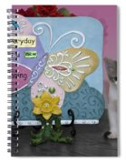 Kitty Says Every Day Is A New Beginning Spiral Notebook