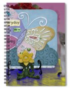 Kitty Says Wow Spiral Notebook