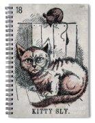 Kitty Sly Spiral Notebook