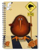 Kiwi Birds Crossing Spiral Notebook
