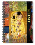 Klimt Collage Spiral Notebook