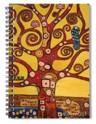 Klimt Study Tree Of Life Spiral Notebook