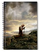 Kneeling Knight Spiral Notebook