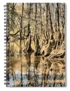 Kneeling On The Edge Spiral Notebook