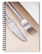 Knife Fork And Plate Spiral Notebook