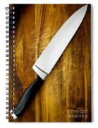 Knife On Chopping Board Spiral Notebook