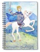 Knight Of Swords Spiral Notebook