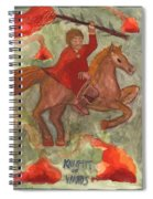 Knight Of Wands Spiral Notebook
