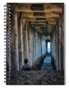 Knitter Under The Pier Spiral Notebook