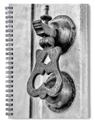 Knock Knock - Bw Spiral Notebook