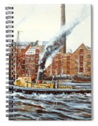 Knocker White Sailing Down River Past Rotherhithe Spiral Notebook