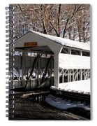 Knox Bridge In The Snow Spiral Notebook