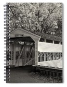 Knox Covered Bridge In Sepia Spiral Notebook