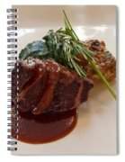 Kobe Beef With Spring Spinach And A Wild Mushroom Bread Pudding Spiral Notebook