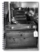 Kodak Folding Autographic Brownie 2-a Black And White Spiral Notebook