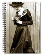 Kodak Girl With A Folding Camera Circa 1918 Spiral Notebook