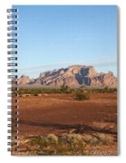 Kofa Mountains With Wild Palm Trees Spiral Notebook
