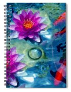 Koi And The Water Lilies Spiral Notebook