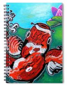 Koi Fish And Water Lily Spiral Notebook