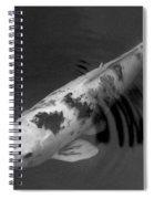 Koi In Black And White Spiral Notebook