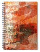 Koi In Orange Spiral Notebook