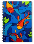 Koi Joi - Blue And Red Fish Print Spiral Notebook