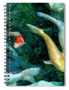 Koi Pond 2 Spiral Notebook