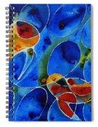 Koi Pond 2 - Liquid Fish Love Art Spiral Notebook