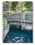 Koi Pond In Senso-ji Temple Grounds Spiral Notebook